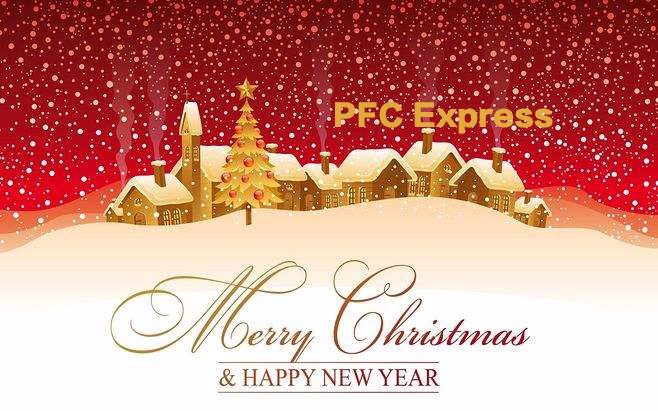 PFC Wish You Merry Christmas and Happy New Year